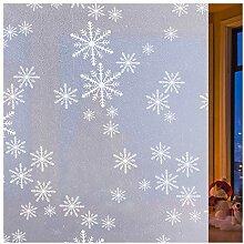 rabbitgoo Fensterfolie Schneeflocken