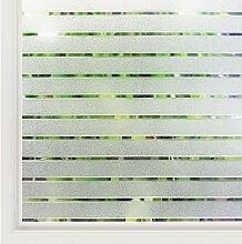 rabbitgoo Fensterfolie Streifen Sichtschutzfolie