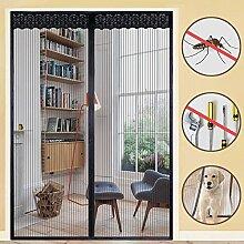 Rabbitgoo Fliegengitter Tür Insektenschutz Magnetvorhang Moskitonetz für Tür 160*230cm Magnetverschluss Schwarz Magnetischer Fliegenvorhang für Türen des Balkons Wohnzimmers