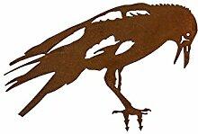 Rabe Vogel (Edelrost-Deko) (groß)