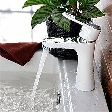 RACHELER Kupferbecken Becken Wasserhahn weiße Farbe heiß und kalt einzigen Loch Waschbecken Becken Waschbecken Bad Schrank Wasserhahn