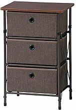 Rack XIA Stoff 3-Schubladen-Aufbewahrungsbox für
