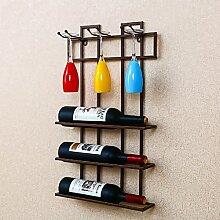 Racks Y weingestell Kleiderbügel Kleiderbügel Kleiderbügel Weinregale Rotwein Glashalter Ornamente hängende kreative Weinregale Weinregale Weinregale (Farbe : Braun)
