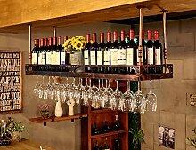 Racks Y weingestell Weinglas-Gestell, Suspendierung kreatives Wein-Gestell, gedrehtes Eisen-Rotweinglas-Rahmen, Bar-Haushalts-Wein-Schalen-Halter Weinregale (Farbe : Bronze, größe : 60*35cm)