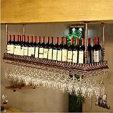 Racks Y weingestell Weinglas-Rack, Regal-Wein-Glas-Halter, Weinglas-Rack, Weinglas-Rack, Champagner-Glas-Rack, Glaswaren-Rack Weinregale (größe : L100*w35cm)