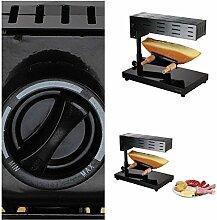 Raclette-Ofen für ein ganzes Stück Käse (Raclette-Grill, 600 Watt, Höhe und Winkel einstellbar, Thermostat)