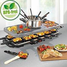 Raclette und Fondue Party-Grill Elektro Set für