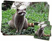 Racoon Lemur Zwillings Platzdeckchen und