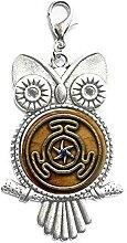 Rad der Hekate Symbol Schmuck Glas Cabochon Eule
