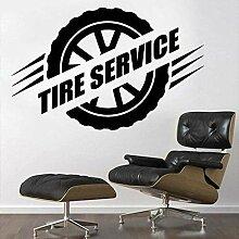 Rad Vektor Reifen Service Wandkunst Aufkleber für
