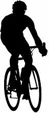 """Radfahren Wand Aufkleber Aufkleber 13–Aufkleber Aufkleber und Wandbild für Kinder Jungen Mädchen- und Schlafzimmer. Sport Art Wand für Home Decor und Dekoration–Fahrrad Silhouette Wandbild, Vinyl, schwarz, 30 in. (12.9""""W x 30""""H)"""