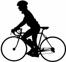 """Radfahren Wand Aufkleber Aufkleber 2–Aufkleber Aufkleber und Wandbild für Kinder Jungen Mädchen- und Schlafzimmer. Sport Art Wand für Home Decor und Dekoration–Fahrrad Silhouette Wandbild, Vinyl, schwarz, 30 in. (30""""W x 28.6""""H)"""