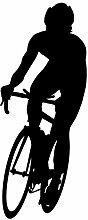 """Radfahren Wand Aufkleber Aufkleber 7–Aufkleber Aufkleber und Wandbild für Kinder Jungen Mädchen- und Schlafzimmer. Sport Art Wand für Home Decor und Dekoration–Fahrrad Silhouette Wandbild, Vinyl, schwarz, 12 in. (5""""W x 12""""H)"""