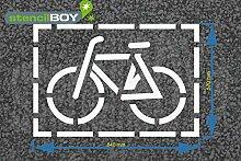 Radfahrer - Fahrrad Bodenmarkierungs-Schablone mir