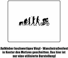 Radfahrer Fahrrad Evolution Aufkleber