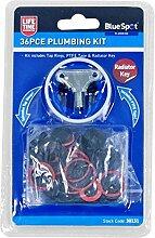 Radiator Plumbing Bleed Bleeding Key Assorted O-Ring Seal & PTFE Tape Set 30131 by Blue Spot Tools