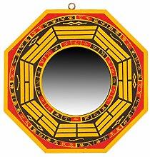 raditionellen chinesischen Feng Shui Bagua Spiegel, & Bagua konkav-Spiegel, Holz, gelb, Concave6