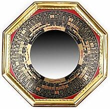 raditionellen chinesischen Feng Shui konvex Legierung Bagua Spiegel & Bagua konkav-Spiegel, Legierung, gelb, bagua mirror4