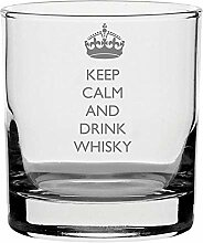 raditionellen Whisky Glas mit Keep Calm And Drink