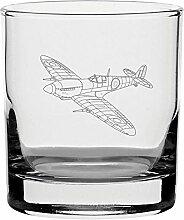 raditionellen Whisky Glas mit Spitfire Design