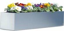 Radius Design - Blumenkasten 100 cm, Edelstahl