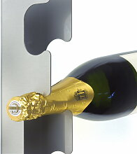 Radius Design - Flaschenwandregal, Edelstahl