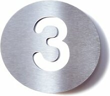 Radius Design - Hausnummer 3, weiß
