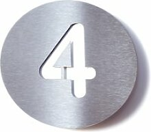 Radius Design - Hausnummer 4, weiß