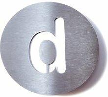 Radius Design - Hausnummer d, weiß