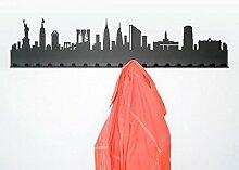 Radius Städtegarderobe New York, dunkelgrau Stahl pulverbeschichte