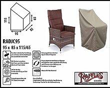 RADJC95 Schutzhülle für Relaxstuhl, Hochlehner XL Schutzhülle für Stapelstühle und Relaxsessel, Abdeckhaube für Gartenstühle