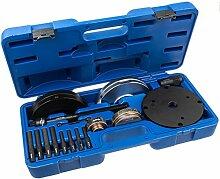 Radlager Werkzeug Satz 82 mm 19-tlg. Ford Focus RS RS500 Mondeo 4 BA7 Radnabe Montage Demontage Radnarbe Wechseln Abzieher Ausdrücker Auszieher Radlagerwechsel Nabeneinheit Radlagerwerkzeug