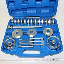 Radlager Werkzeug Satz Radnaben Abzieher 31 Teile im Koffer. Mit Spindel, Durckplatten, Bolzen usw. Zur Demontage und Montage von Radnaben und Radlagern. Universell passend für viele Fahrzeuge.