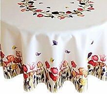 Raebel OHG Apolda Tischdecke 150 cm Rund Weiß
