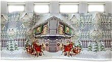 Raebel Scheibengardine 30x120 cm Weihnachten