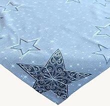 Raebel Tischdecke Hellgrau Stickerei Sternenmotiv