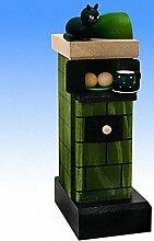 Räucherfigur Kachelofen, grün-rauchend 20 cm NEU