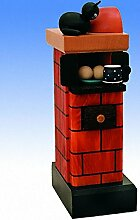Räucherfigur Kachelofen, rot-rauchend 20 cm NEU