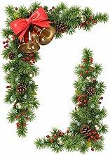 Räucherkegel Tanne, & Glocken, statisch Stickers4 Weihnachtliche Fensterdekoration/Ecken Fensteraufkleber für Weihnachten Dekoration, M
