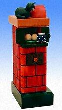 Räuchermännchen Kachelofen rauchend - Farbe: rot