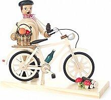 Räuchermann mit Fahrrad Pilzsucher - 18cm -