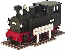 Räuchermann Räucherlok Harzer Schmalspurbahn von DREGENO SEIFFEN 17 cm – Original erzgebirgische Handarbeit, Weihnachts-Dekoration