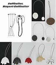 Raffhalter, Magnet-Raffhalter, für Vorhänge und