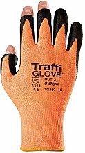 raffiglove TG350–12Größe 123-stelliger/Cut Shell Polyurethan Palm Beschichtung und ausgesetzt Finger Tipps Glove–Bernstein