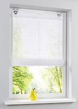 Raffrollo Basel, weiß (H/B: 130/45 cm)