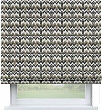 Raffrollo Capri, schwarz-beige, 80 × 170 cm,