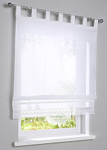 Raffrollo Cinnia, weiß (H/B: 130/100 cm)