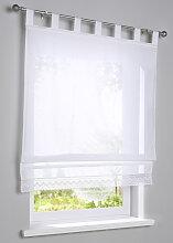 Raffrollo Cinnia, weiß (H/B: 130/80 cm)