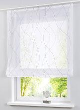 Raffrollo Weiß Transparent günstig online kaufen   LIONSHOME