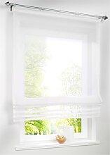 Raffrollo Lea, weiß (H/B: 155/60 cm)